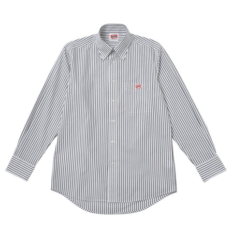 BBCICECREAM One Point Striped Oxford Shirt - Black