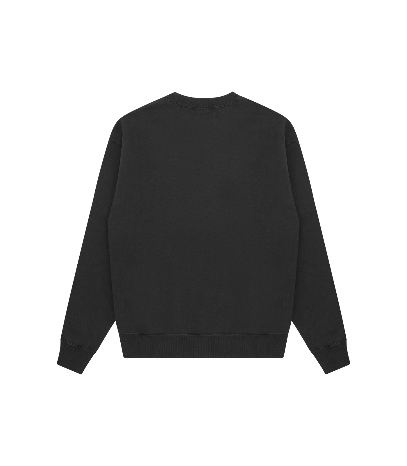 MONSTER OVERDYED SWEATSHIRT - BLACK