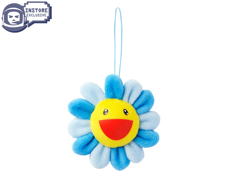 MURAKAMI MURAKAMI FLOWER PLUSH KEY CHAIN - BLUE