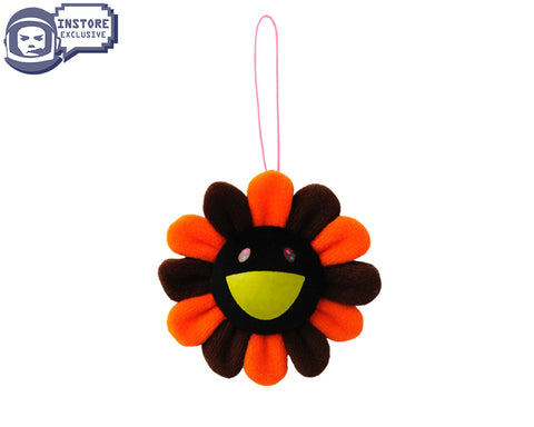 MURAKAMI MURAKAMI FLOWER PLUSH KEY CHAIN - ORANGE/BLACK