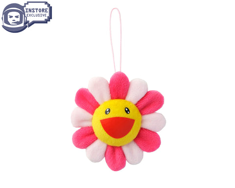 MURAKAMI MURAKAMI FLOWER PLUSH KEY CHAIN - PINK