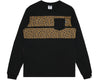 Billionaire Boys Club Pre-Fall '18 LEOPARD STRIPE L/S T-SHIRT - BLACK