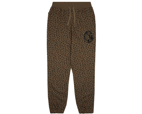 Billionaire Boys Club Pre-Fall '18 LEOPARD SWEATPANT - BROWN
