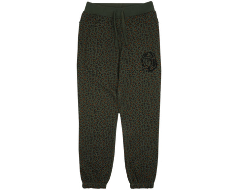 Billionaire Boys Club Pre-Fall '18 LEOPARD SWEATPANT - GREEN