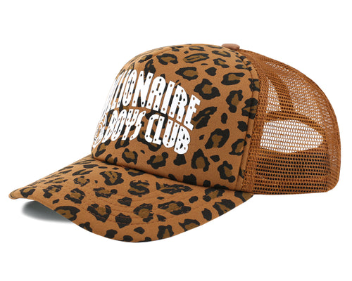 LEOPARD TRUCKER CAP - BROWN