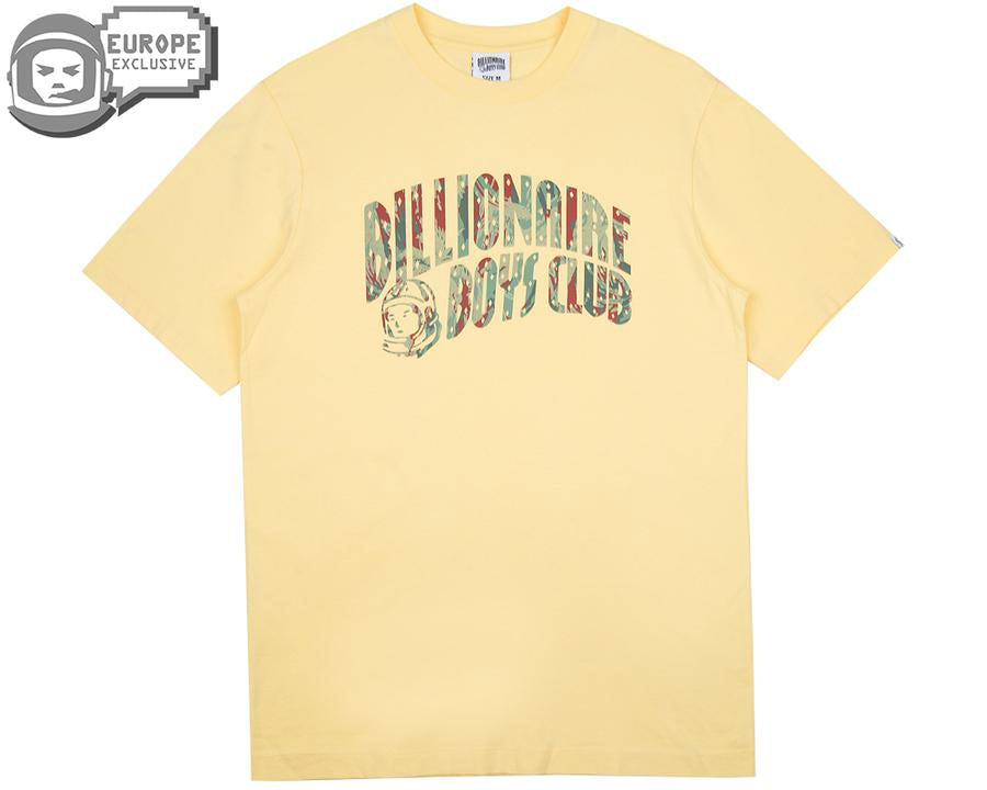REFLECTIVE LIZARD CAMO ARCH LOGO T-SHIRT - LEMON