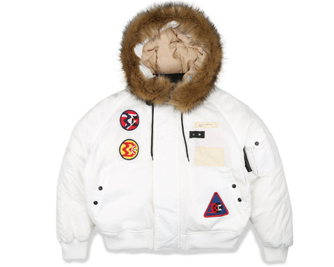 Billionaire Boys Club Fall '19 LUNAR FLIGHT JACKET - WHITE