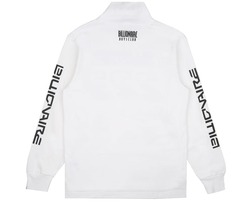 MULTI LOGO L/S TURTLE NECK T-SHIRT - WHITE