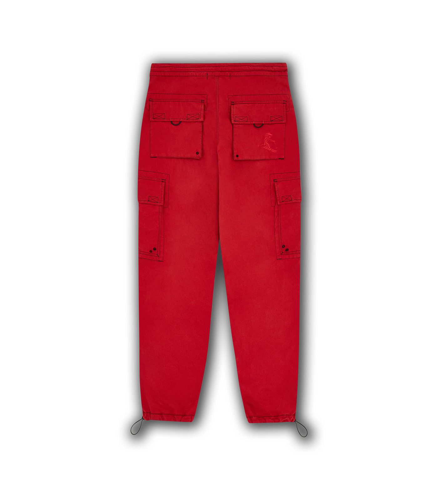 MULTI POCKET CARGO PANT - RED