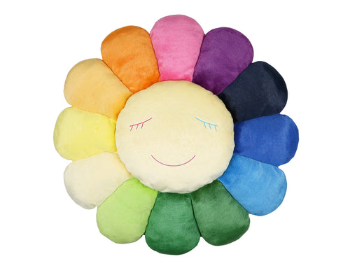 MURAKAMI FLOWER CUSHION 1.5M - RAINBOW & WHITE