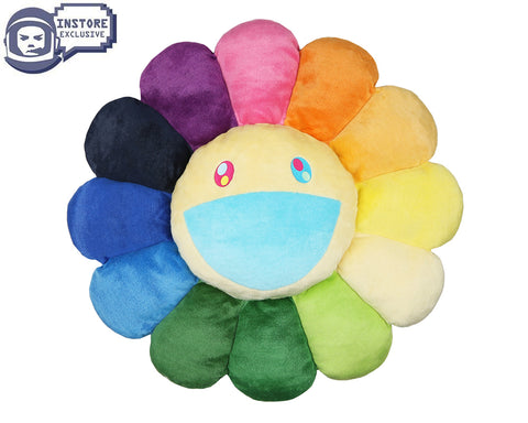 MURAKAMI MURAKAMI FLOWER CUSHION 1M - RAINBOW & WHITE