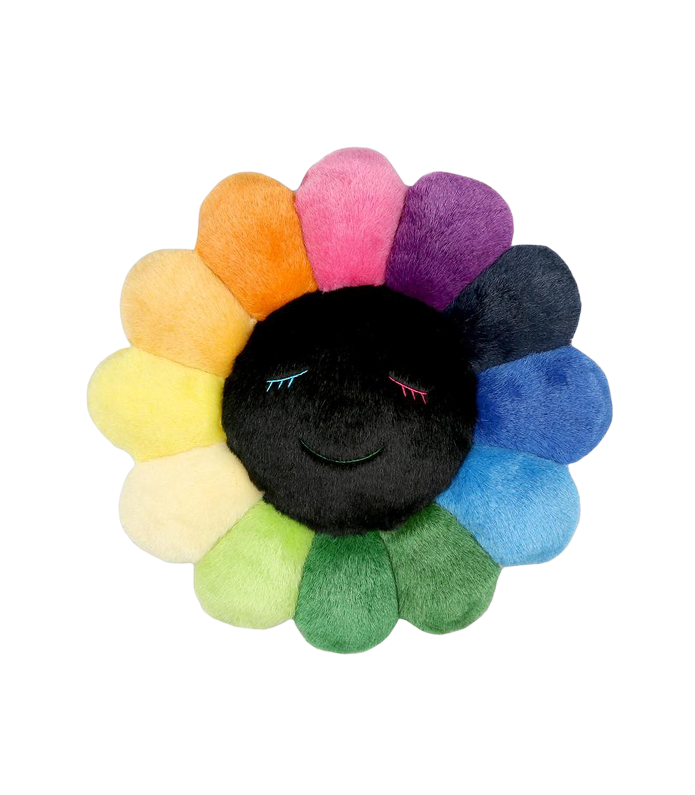 MURAKAMI FLOWER CUSHION 1.5M - RAINBOW & BLACK