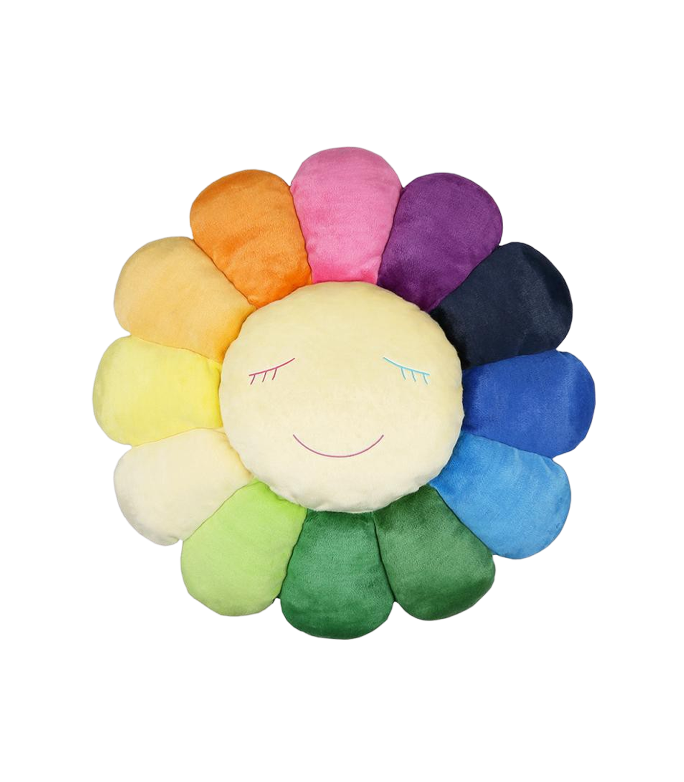 MURAKAMI FLOWER CUSHION 2M - RAINBOW & WHITE
