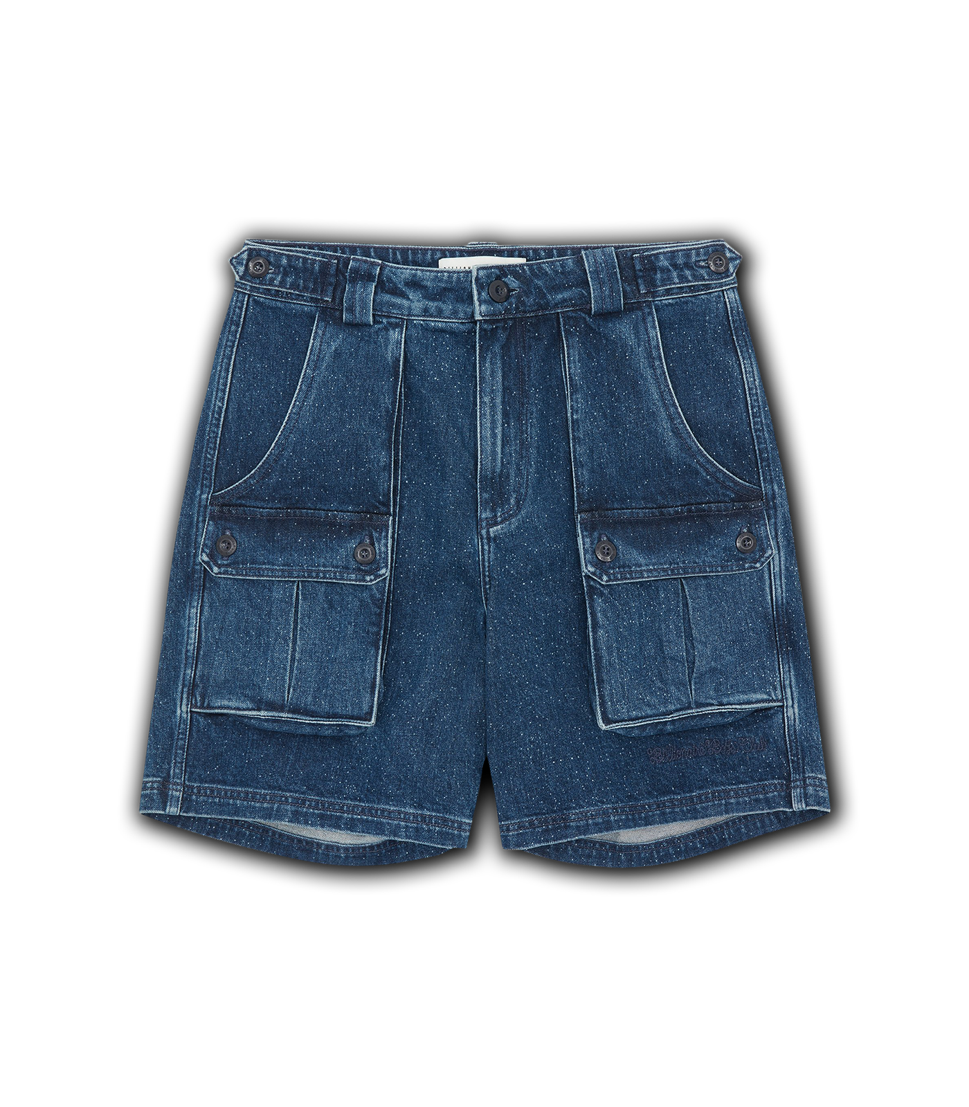MULTI POCKET DENIM SHORTS - BLUE