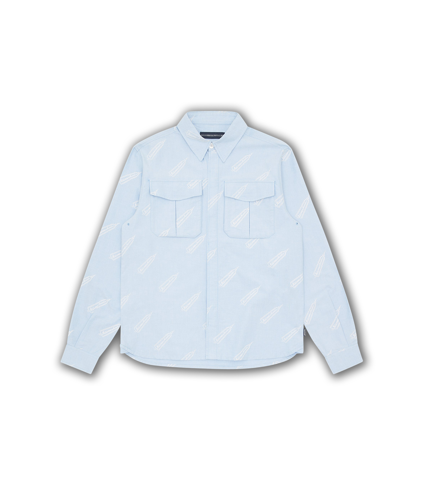 OXFORD COTTON A/O FIELD SHIRT - BLUE