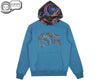 Billionaire Boys Club Fall '18 PAISLEY CONTRAST POPOVER HOOD - TEAL