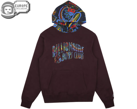Billionaire Boys Club Fall '18 PAISLEY CONTRAST POPOVER HOOD - WINE