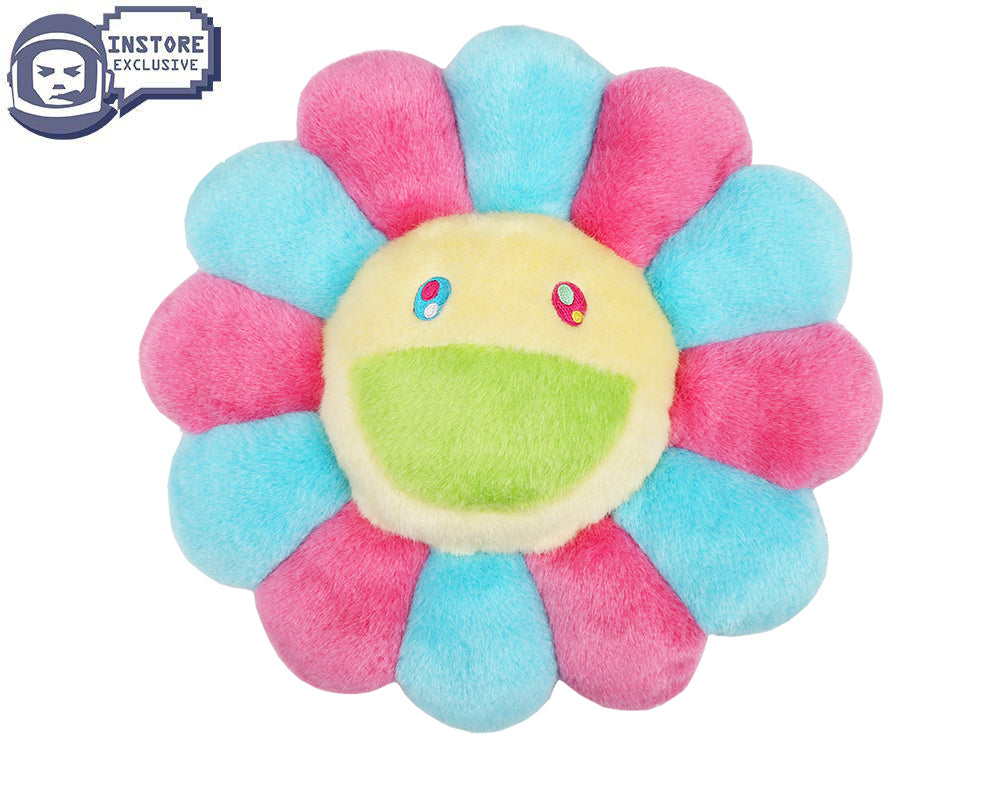 MURAKAMI FLOWER CUSHION 1M - PINK & BLUE