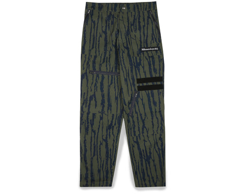 PRINTED MULTI POCKET CARGO PANT - OLIVE