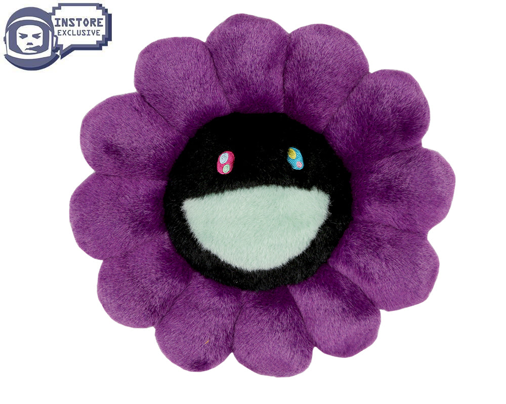 MURAKAMI FLOWER CUSHION 30CM - PURPLE & BLACK