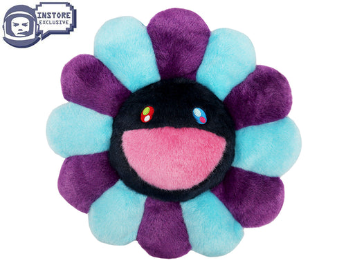 MURAKAMI FLOWER CUSHION 60CM - BLUE PURPLE & NAVY