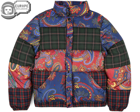 Billionaire Boys Club Fall '18 PAISLEY CHECK DOWN JACKET - PAISLEY/CHECK