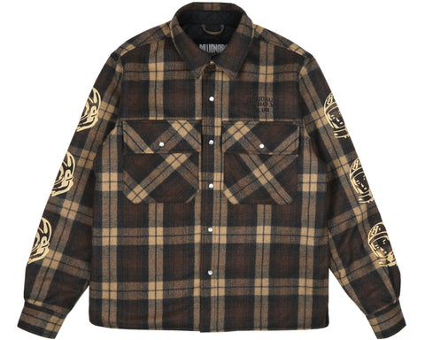 Billionaire Boys Club Pre-Spring '19 QUILTED CHECK SHIRT - BROWN