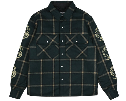 Billionaire Boys Club Pre-Spring '19 QUILTED CHECK SHIRT - GREEN