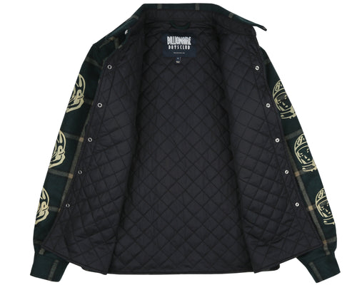 QUILTED CHECK SHIRT - GREEN