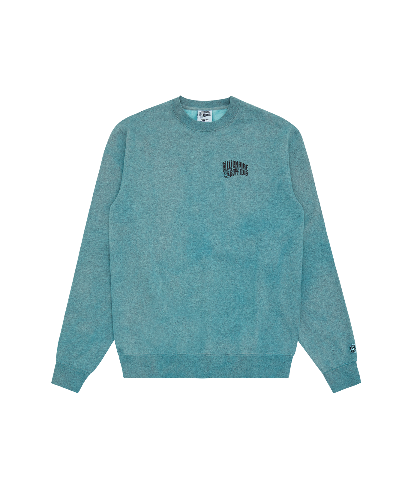 RECYCLED SMALL ARCH LOGO CREWNECK - BLUE