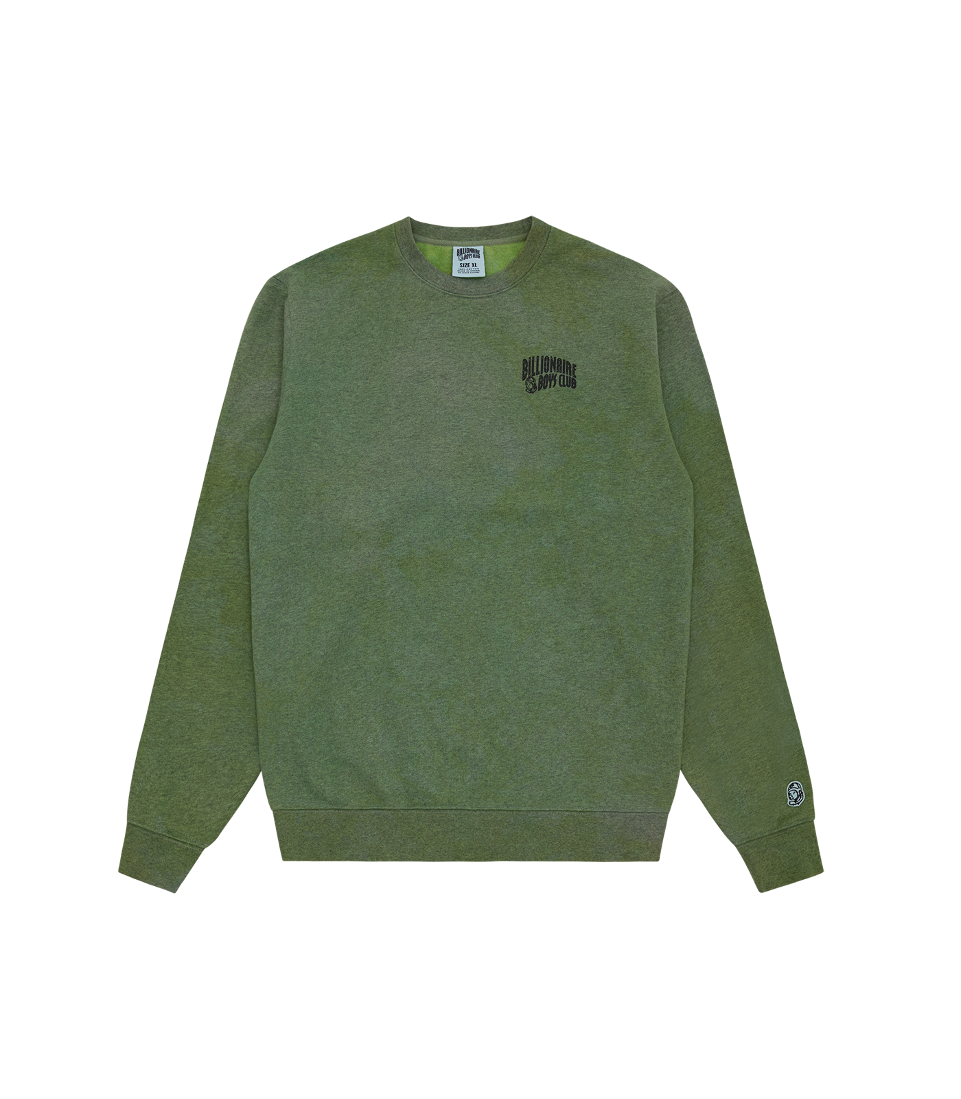 RECYCLED SMALL ARCH LOGO CREWNECK - GREEN