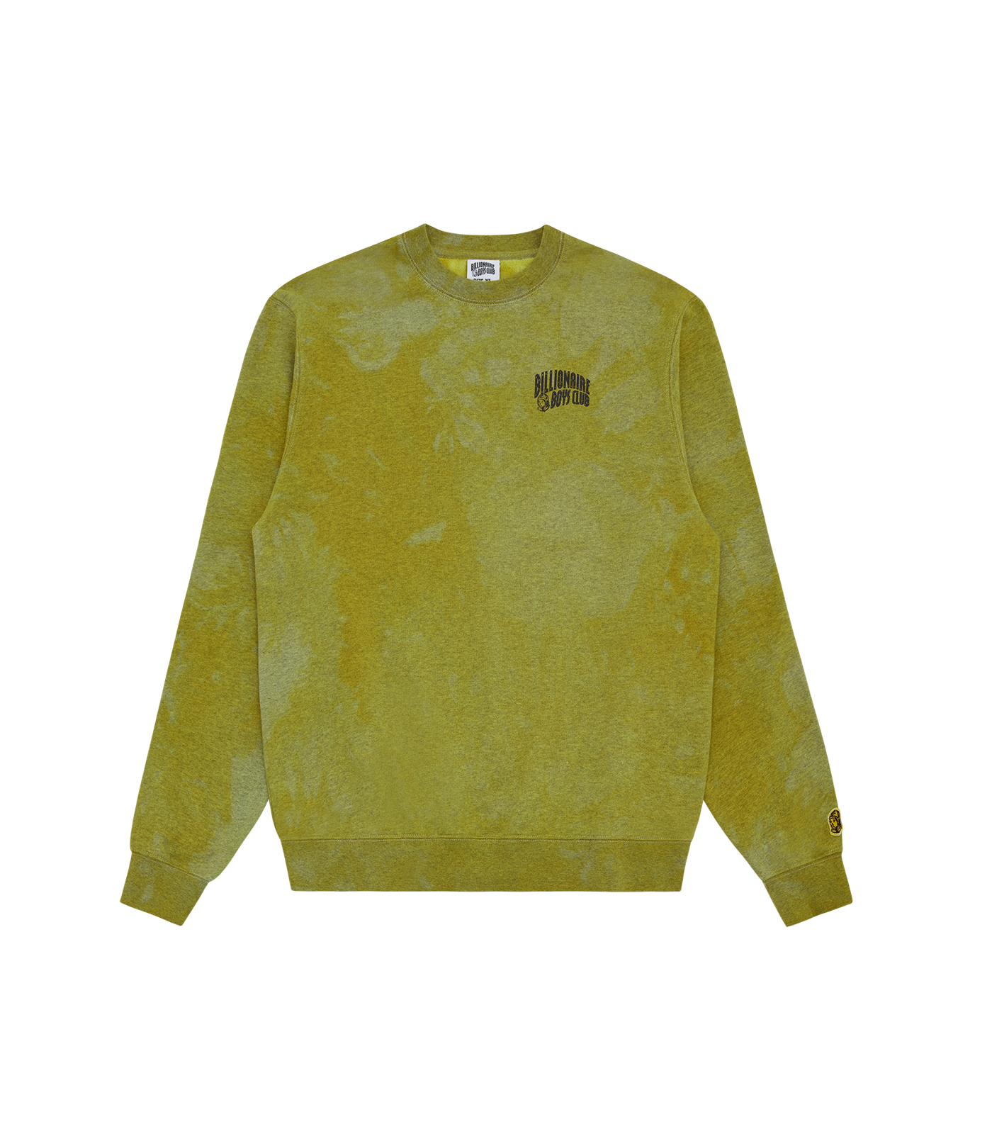 RECYCLED SMALL ARCH LOGO CREWNECK - YELLOW