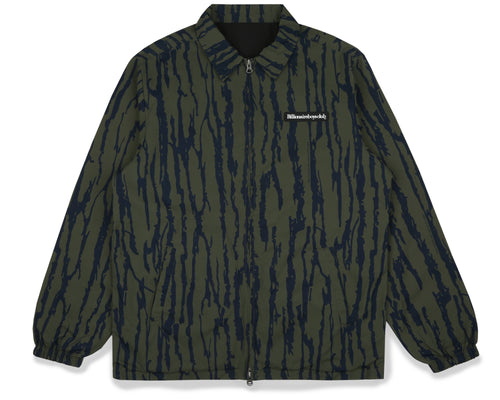 REVERSIBLE PRINTED COACH JACKET - BLACK