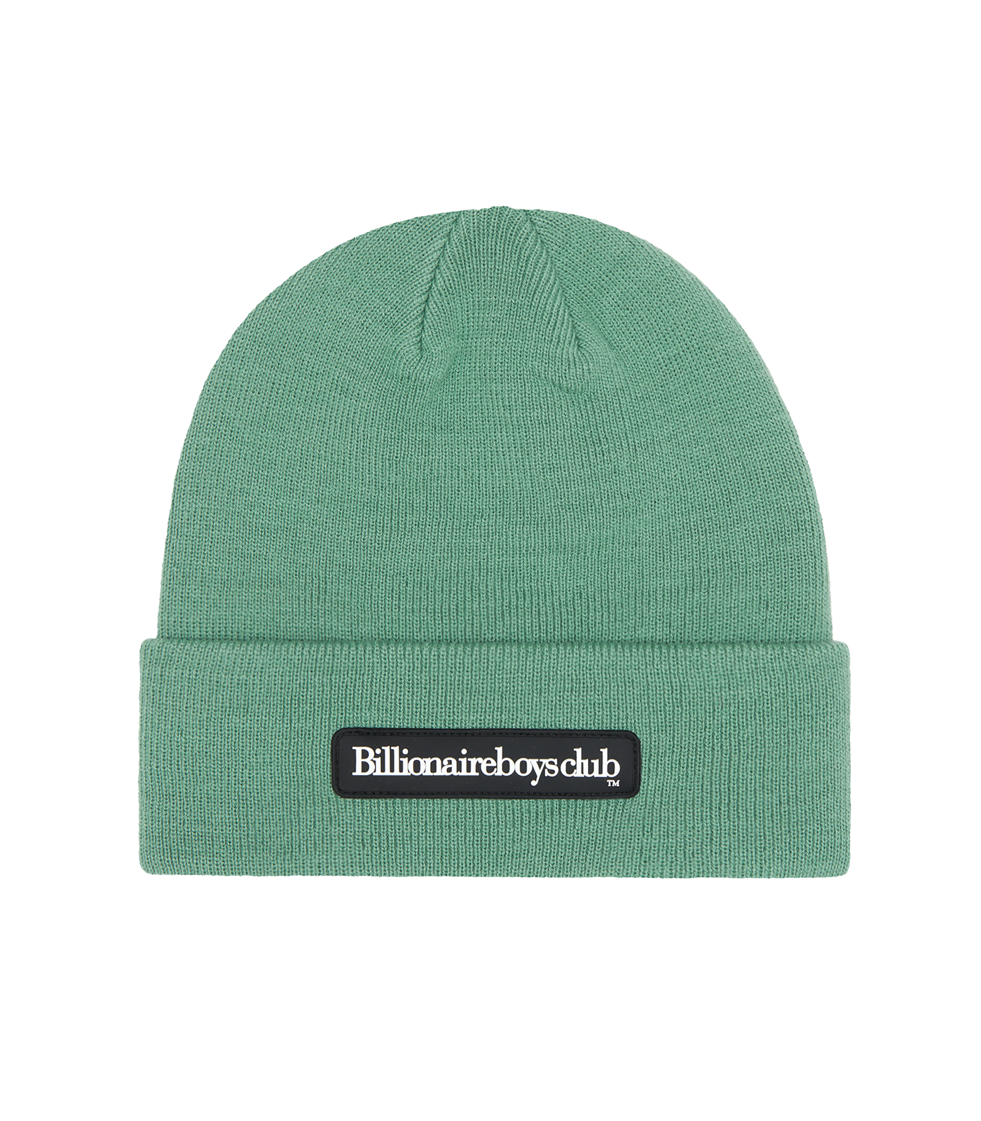 RUBBER PATCH RIBBED BEANIE - MARINE