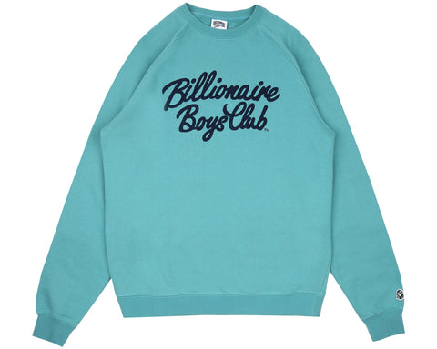 Billionaire Boys Club Pre-Fall '18 SCRIPT CREWNECK - TEAL