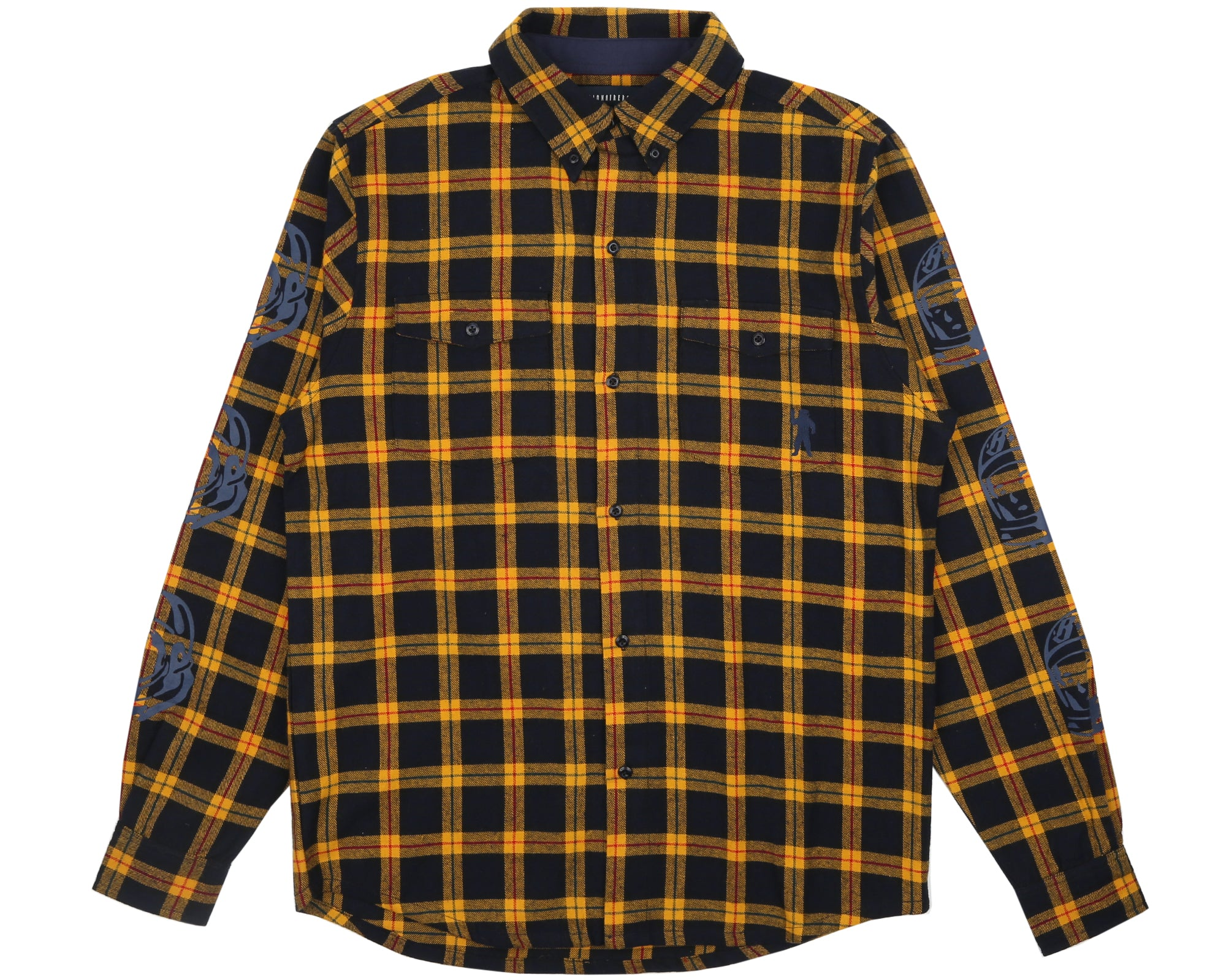 HELMET PRINT CHECK SHIRT - GOLDEN YELLOW