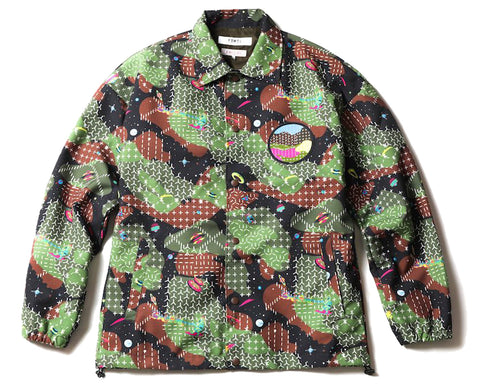 BBC X FDMTL SPACE CAMO COACH JACKET - GREEN