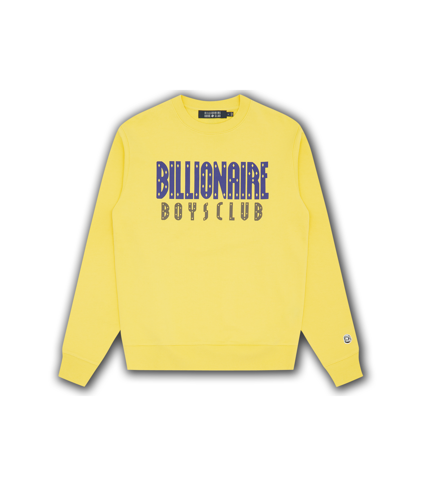 STRAIGHT LOGO CREWNECK - LEMON
