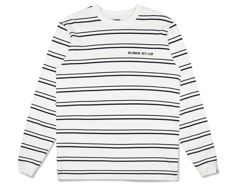 Billionaire Boys Club Fall '19 STRIPE KNIT L/S T-SHIRT - WHITE