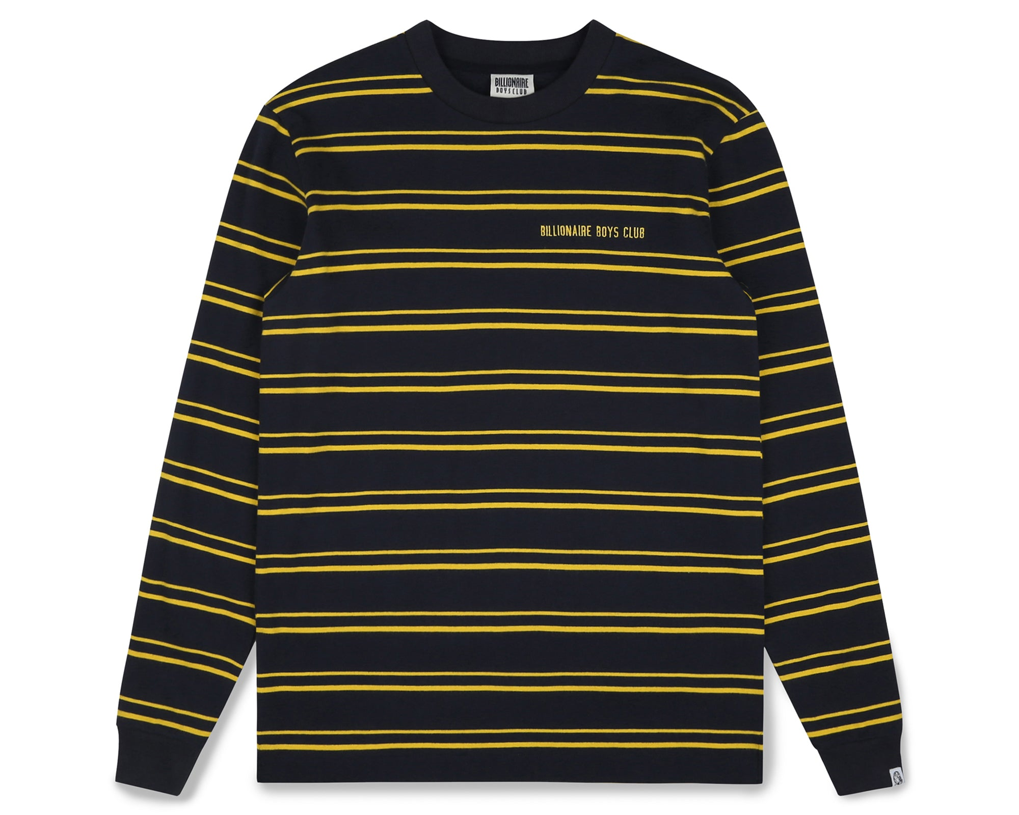 STRIPE KNIT L/S T-SHIRT - NAVY