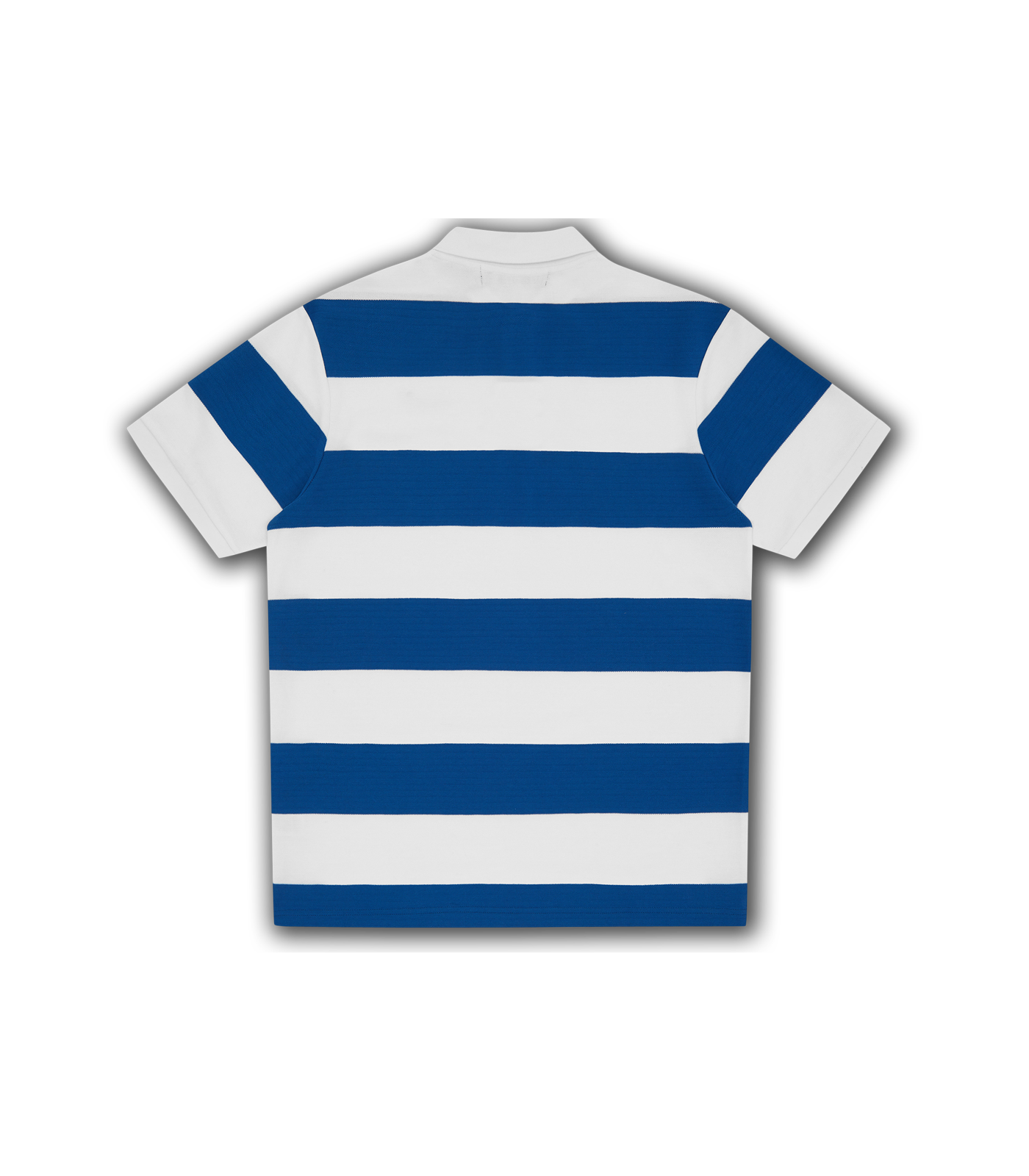 STRIPED POLO SHIRT - WHITE/BLUE