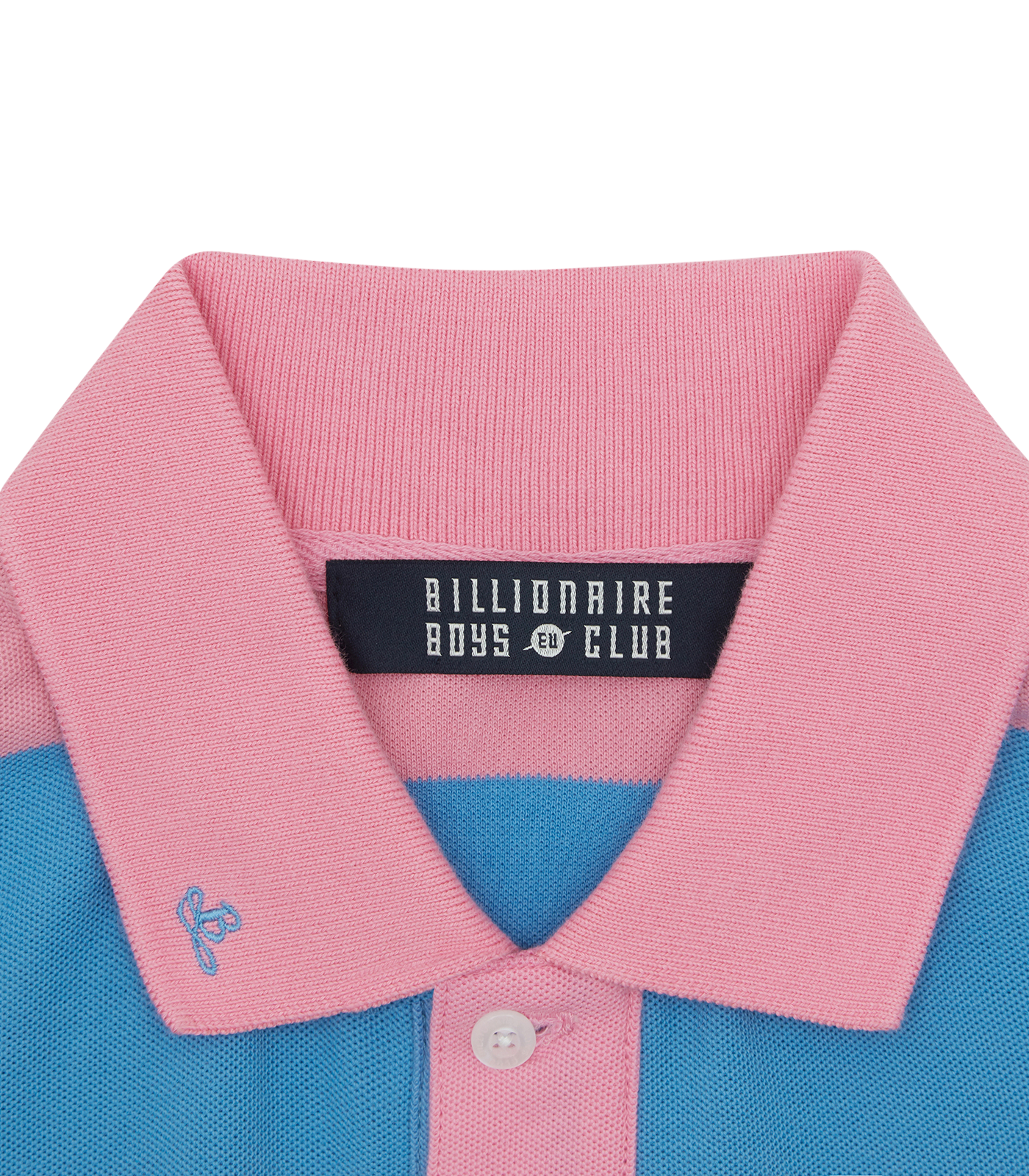 STRIPED POLO SHIRT - PINK/BLUE