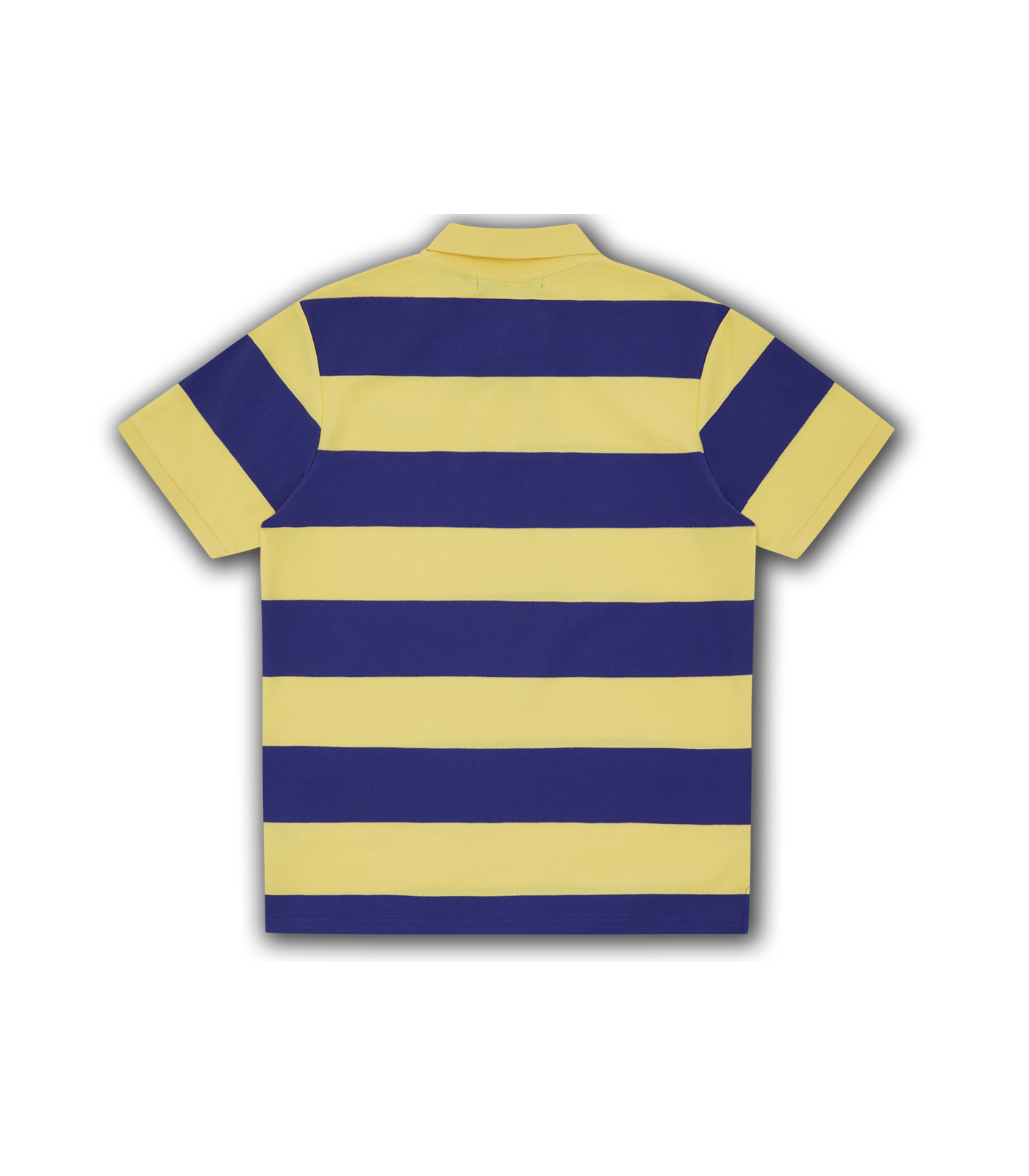 STRIPED POLO SHIRT - YELLOW/PURPLE
