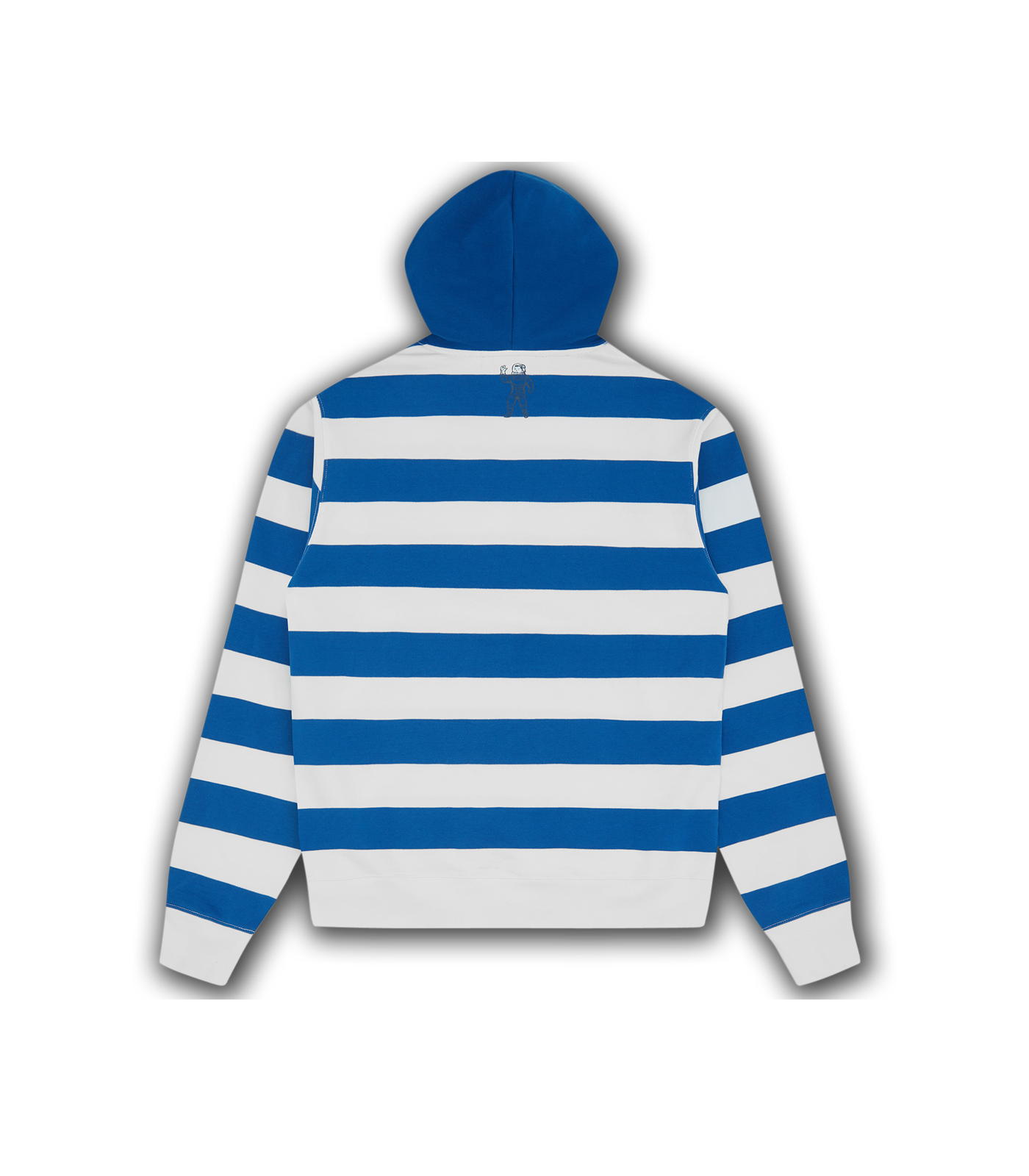 STRIPED POPOVER HOOD - BLUE