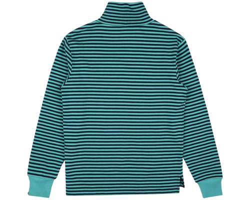 STRIPED L/S T-SHIRT - TEAL