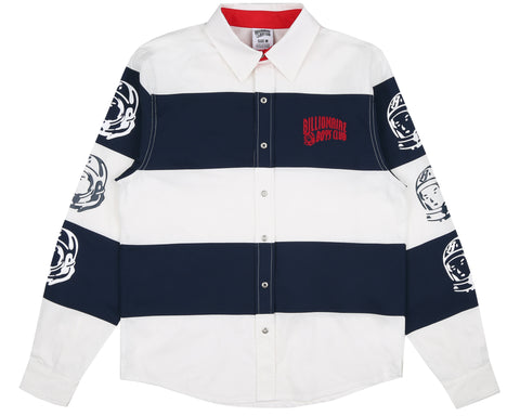 Billionaire Boys Club Fall '18 STRIPED POPLIN SHIRT - WHITE