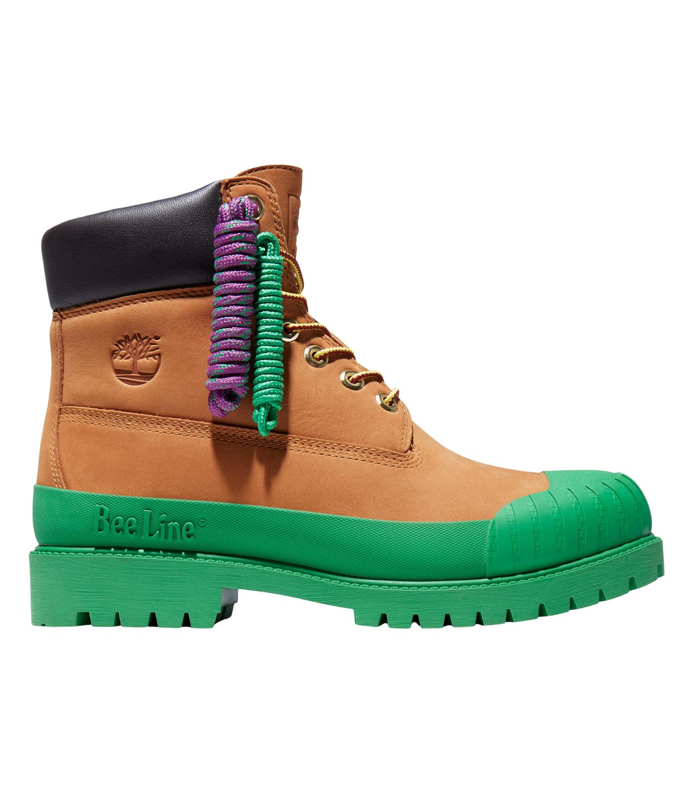 BEE LINE & TIMBERLAND 6-INCH RUBBER TOE BOOT - GREEN