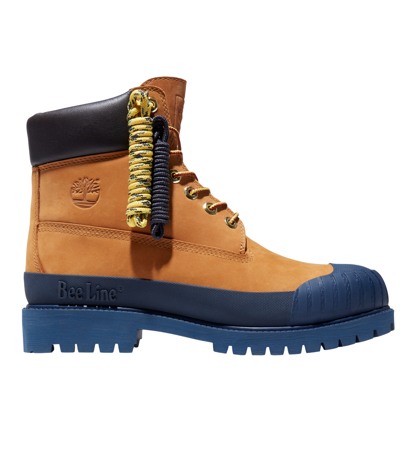 BEE LINE & TIMBERLAND 6-INCH RUBBER TOE BOOT - NAVY