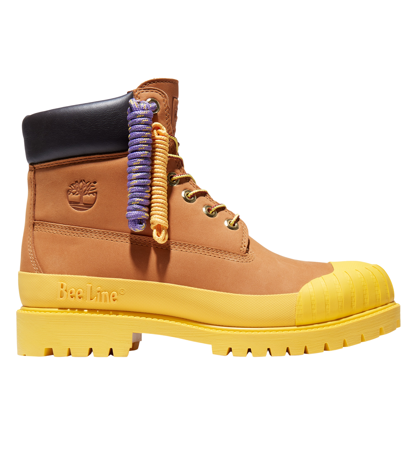 BEE LINE & TIMBERLAND 6-INCH RUBBER TOE BOOT - YELLOW