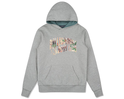 Billionaire Boys Club Fall '19 TREE CAMO ARCH LOGO POPOVER HOOD - HEATHER GREY